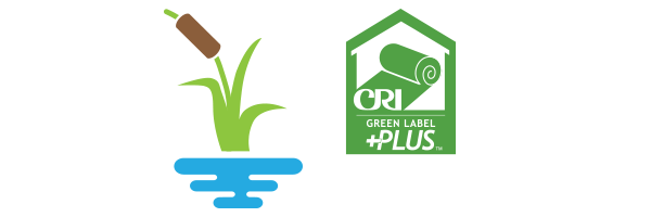 Wetlands and CRI Green Label Plus icons